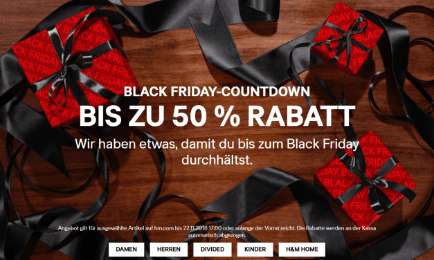 [H&M] Black Friday: do -50% popusta