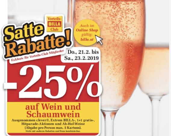 [billa] -25% na vino do 23.02.2019