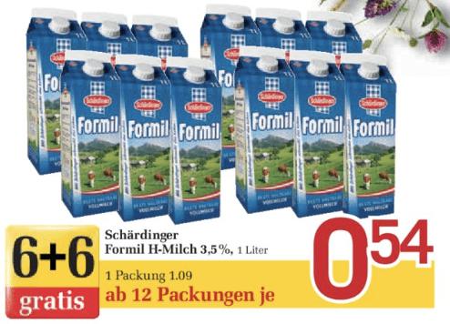 [billa] Formil mlijeko 3.5% od 12 komada za 0,54€/komad