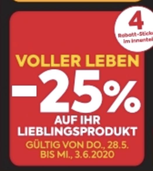 [billa] Angebote mit -25% Aufklebern