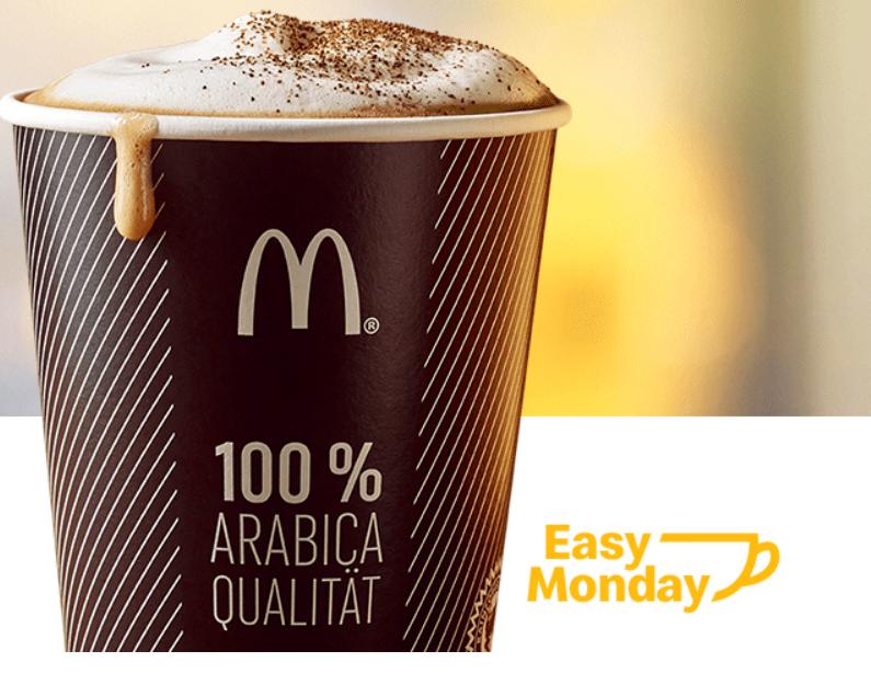 McDonalds Easy Monday – Gratis Heissgetränk
